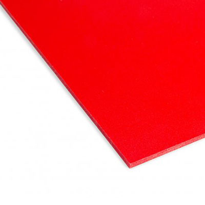 Geschuimd PVC Rood
