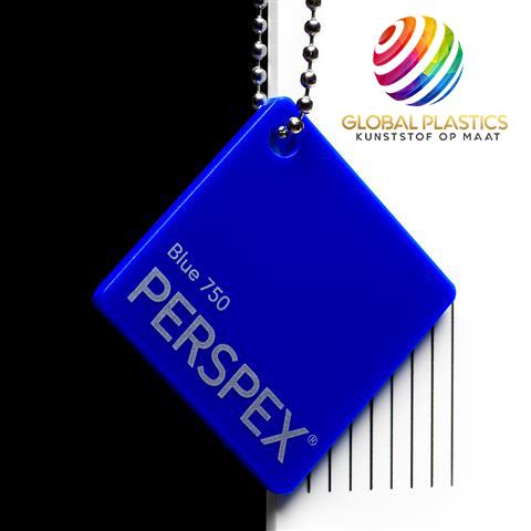 Perspex Blauw 750