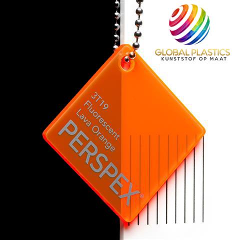 Perspex Fluor Lava Orange 3T19